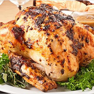 No-Baste, Herb-Crusted Turkey w/Mushroom Gravy