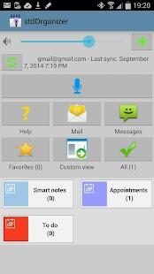 stdOrganizer - voice command- screenshot thumbnail
