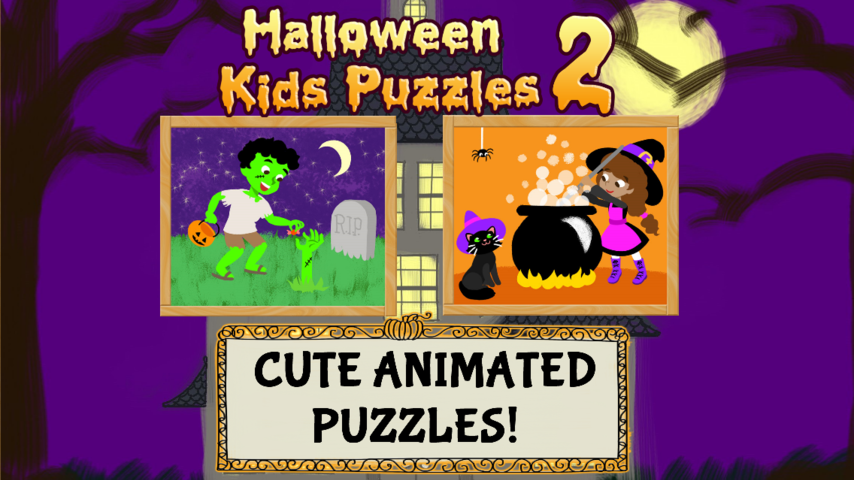 Halloween Games- Kids Puzzle 2- screenshot