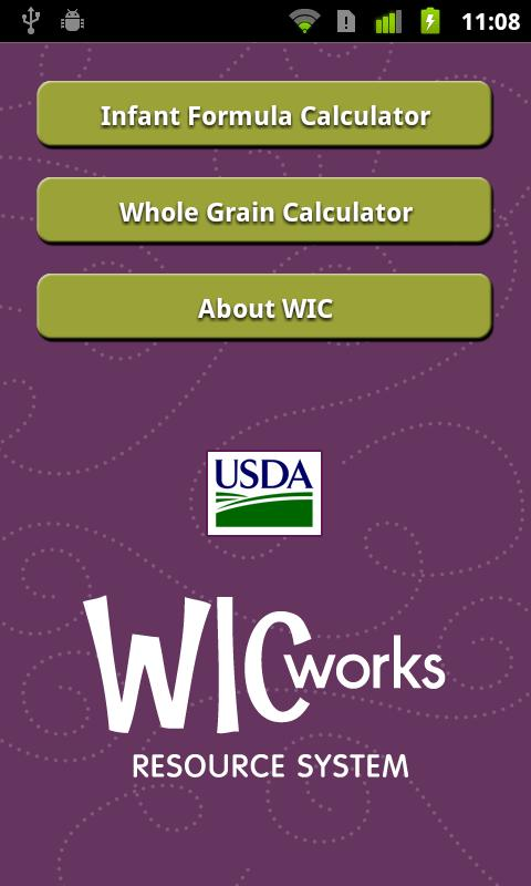 WIC Calculators - screenshot