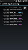 Screenshot of GSM Signal Monitoring