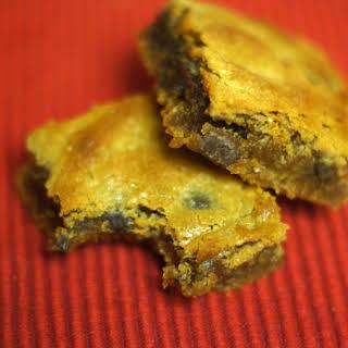 Flourless Peanut Butter Chocolate Chip Blondies.