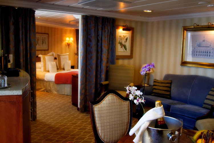Get comfy in a roomy, well-appointed sitting room when you sail with Azamara.