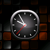 Orange Bold Analog Clock