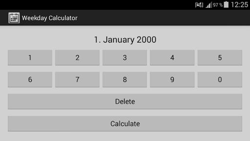 Weekday Calculator