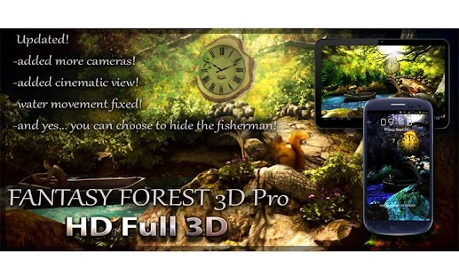 Fantasy Forest 3D Pro lwp Screenshot