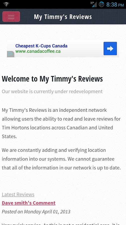 My Timmy's Reviews- screenshot