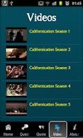 Screenshot of Californication Trivia
