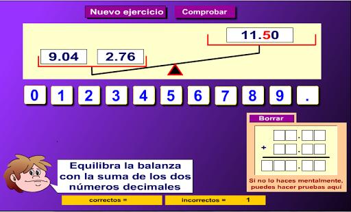 Suma números decimales