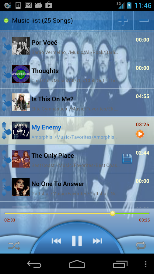 MusicDropNPlayLite for Dropbox - screenshot