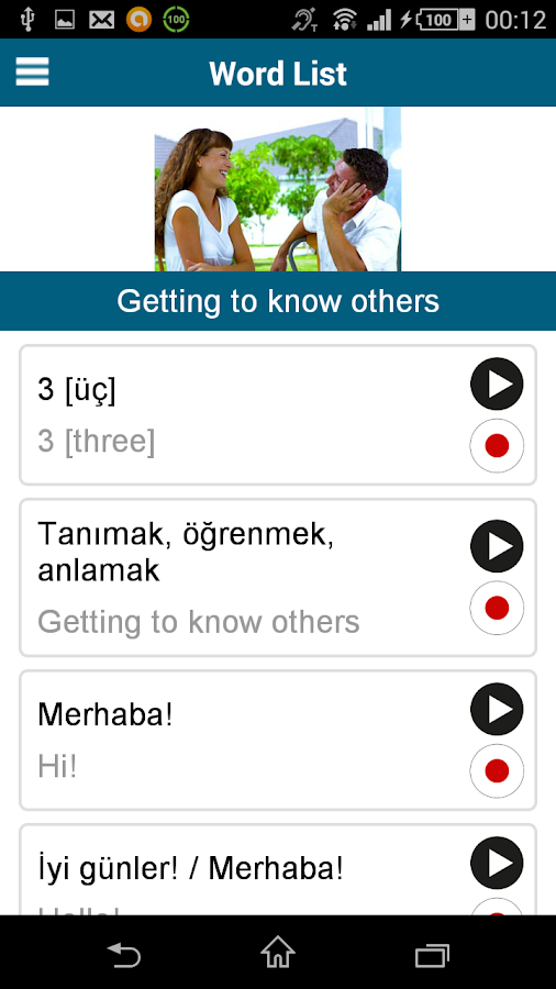 Learn Turkish - 50 languages- screenshot