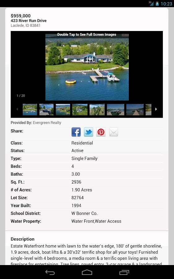 Sandpoint Idaho Real Estate- screenshot