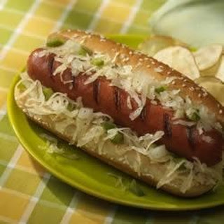 Franks with Sauerkraut Relish