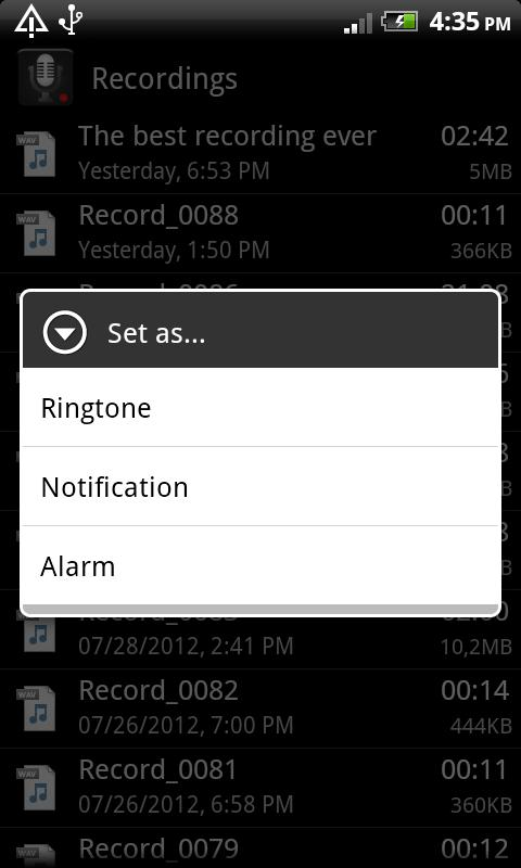 Smart Voice Recorder - screenshot