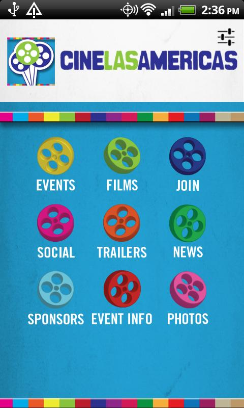 Cine Las Americas Mobile App - screenshot
