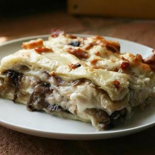 Lasagna With Caramelized Radicchio, Onions & Crispy Pancetta