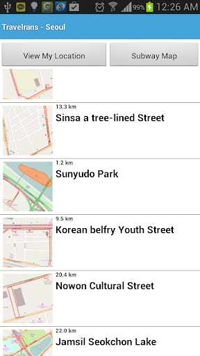 One Touch Seoul Travel Map
