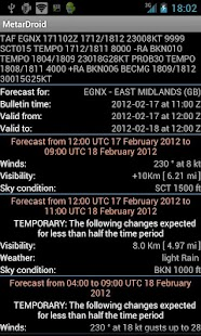 MetarDroid Lite (Metar -Taf ) - screenshot thumbnail