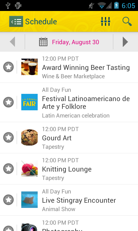 L.A. County Fair Mobile App - screenshot