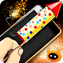 Simulator Fireworks New Year mobile app icon