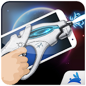 Space laser weapon shot