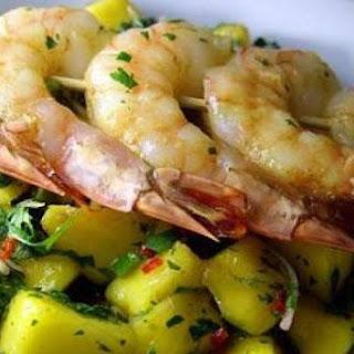 Mango Salad with Grilled Shrimp