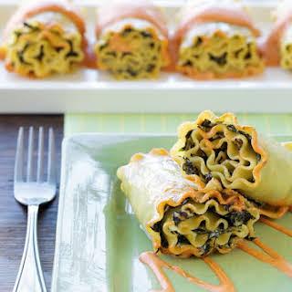 Spinach Lasagna Roll-Ups.