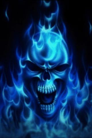 Blue Skull Live Wallpaper Android App Screenshot