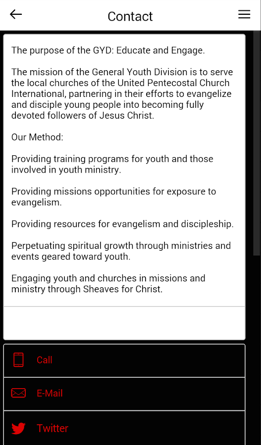 General Youth Division UPCI- screenshot
