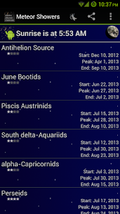 Meteor Shower Calendar - screenshot thumbnail