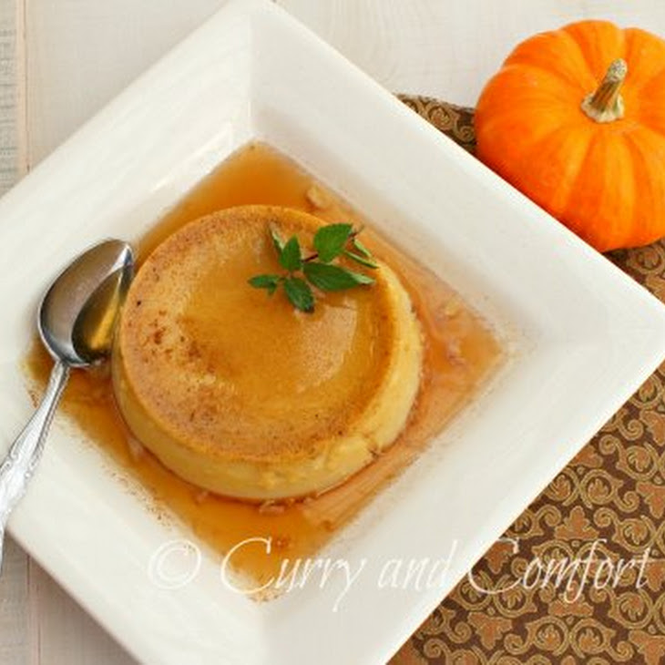Pumpkin Flan with Maple Syrup Recipe