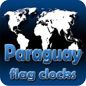 Paraguay flag clocks