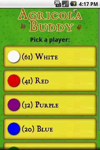 Agricola Buddy: captura de pantalla