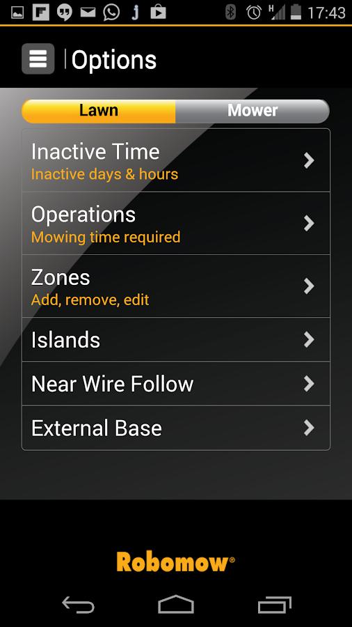 Robomow App - screenshot