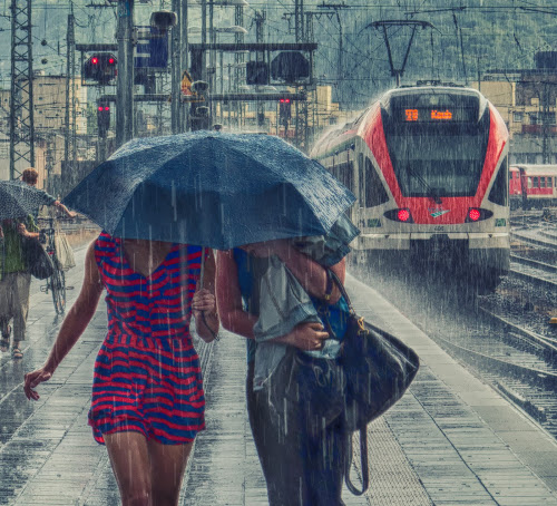 Hard Rain by Dietmar Pohlmann - People Street & Candids ( people, rain )