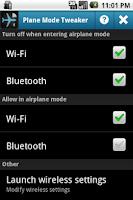 Screenshot of Plane Mode Tweaker