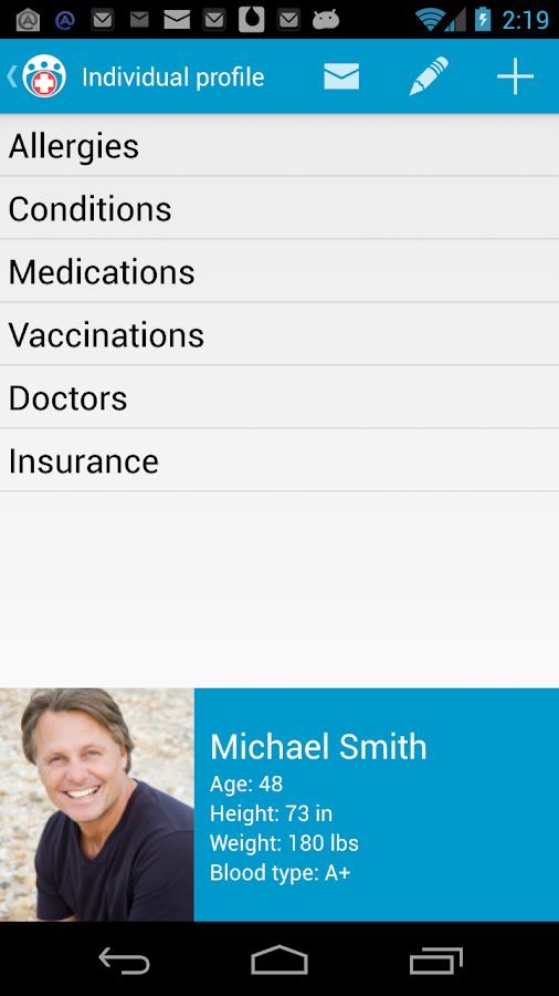 Family Medical Info- screenshot