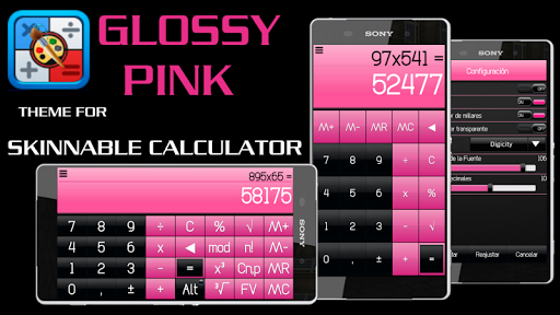 SCalc Theme Glossy PINK