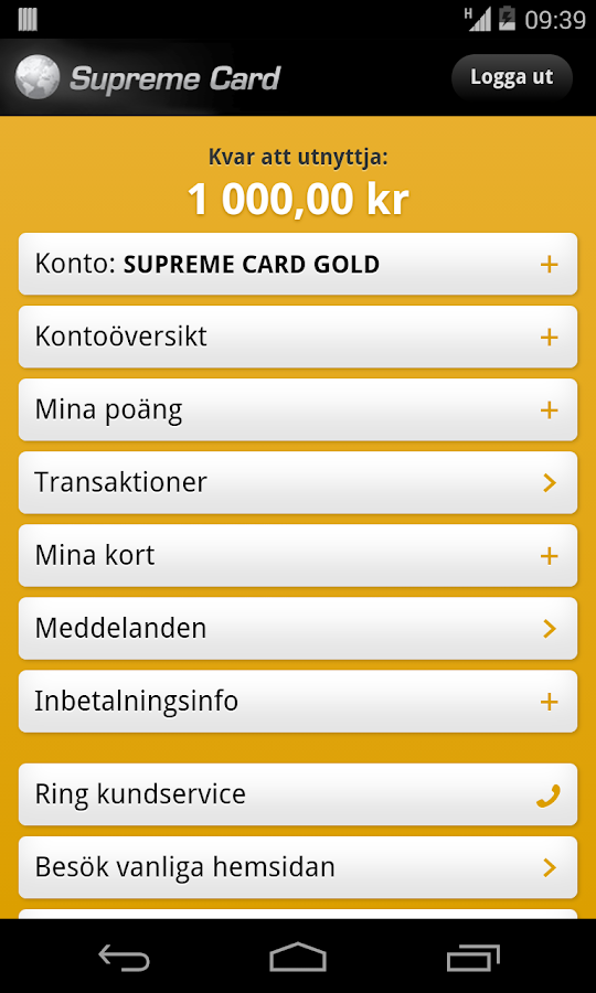 Supreme Card- screenshot