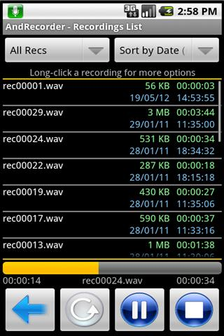 AndRecorder - Free- screenshot