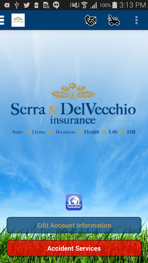 Serra & DelVecchio Insurance- screenshot