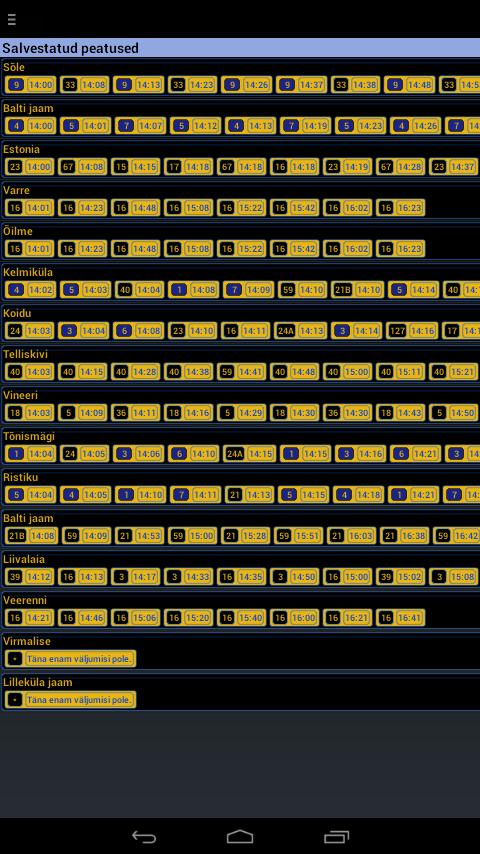 Eesti ühistransport - screenshot