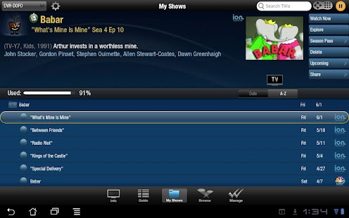 TiVo for Tablets - screenshot thumbnail