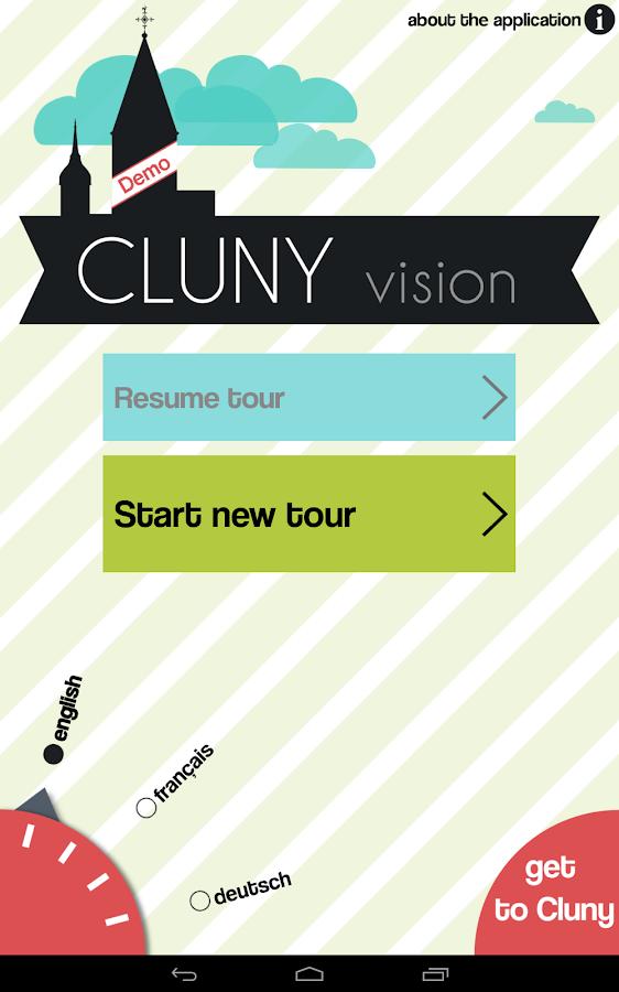 Cluny Vision Demo- screenshot