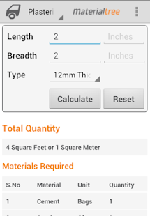 Building materials calculators apps on google play for Material cost to build a house calculator