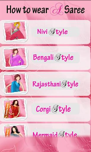 How to wear a Saree Lite