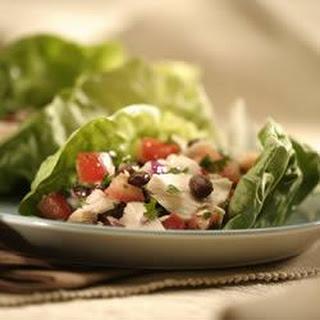 Tuna and Black Bean Salad Wraps.