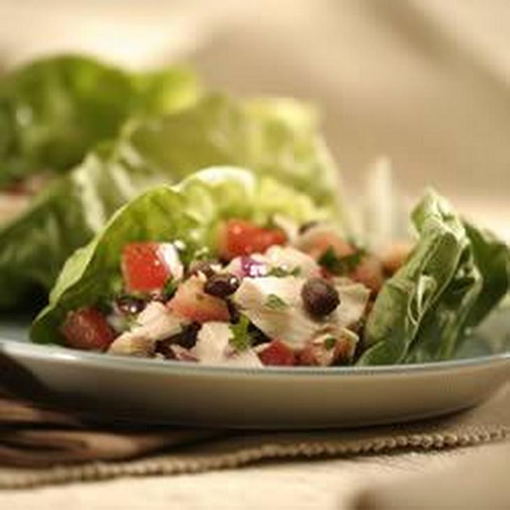 Tuna and Black Bean Salad Wraps