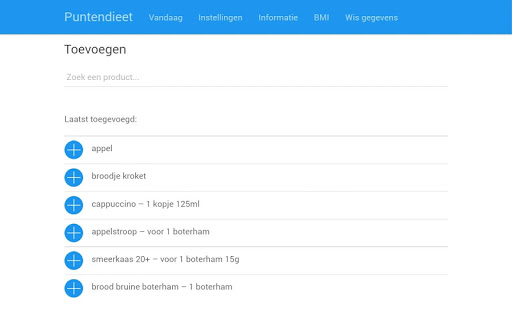 एंड्रॉइड / पीसी के लिए Afvallen met het Punten Dieet ऐप्स (apk) मुफ्त डाउनलोड screenshot