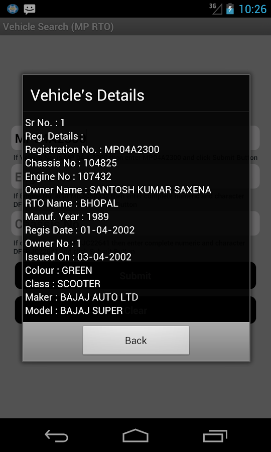 Vehicle no search andhra pradesh quikr